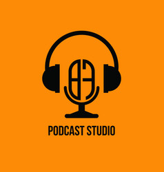Bf monogram headphone and microphone style vector