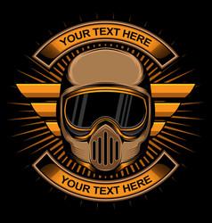 biker helmet logo vector image