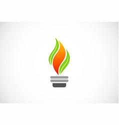 Bio flame organic logo vector