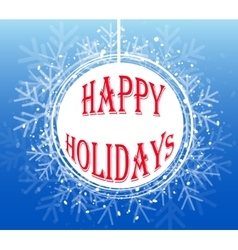 Blue Christmas Snowflake Wreath vector image
