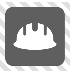 Builder Hardhat Rounded Square Button vector image