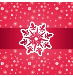Christmas Frame Over Seamless Pattern vector image