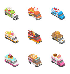 City service icons set isometric style vector