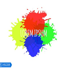 Colorful Paint Splats vector