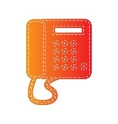 Communication or phone sign Orange applique vector image