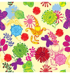 cutesy scrapbook pattern vector image