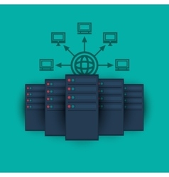 Data center related icons image vector