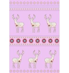 Deers with flowers vector