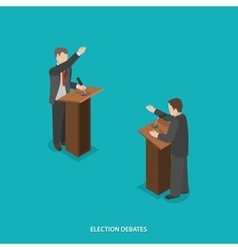 Election debates flat isometric vector image