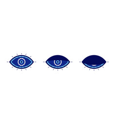 Evil eye symbol blinking or sleeping eye vector
