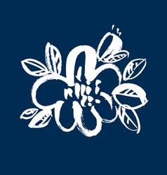 flower hand drawn vector image