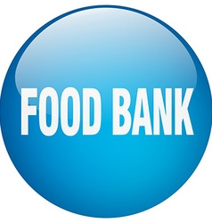 Food bank blue round gel isolated push button vector