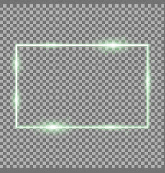 frame with light effects green color vector image