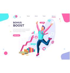 Graphic bonus management banner vector