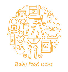 icon set bafood line icons in the vector image