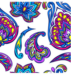 Indian ethnic seamless pattern vector