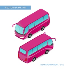 Isometric tourist bus vector
