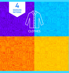 Line clothes patterns vector