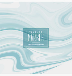 liquid marble texture in soft blue color vector image