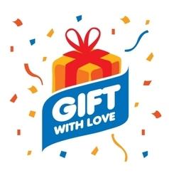 Logo gift vector