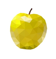 Low poly apple icon yellow vector