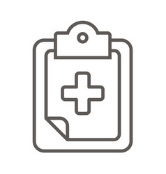 medical folder - health and care icon vector image