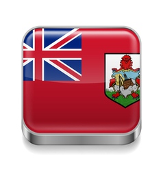 Metal icon of Bermuda vector image