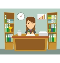Office worker at work vector