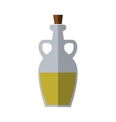 Olive oil inside bottle of glass icon Jar design vector image