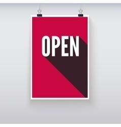 Open shopping door signs board vector