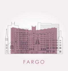 outline fargo north dakota skyline with vector image