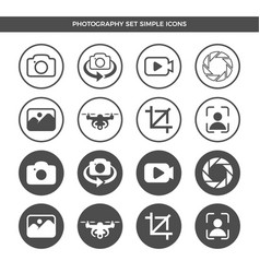 Photography icon symbol design set vector