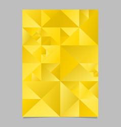 Polygonal golden abstract triangle poster vector