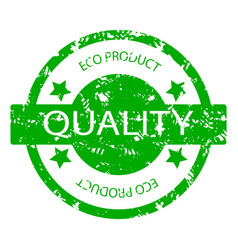 quality eco product rubber stamp vector image