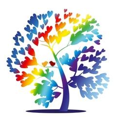 rainbow tree vector image