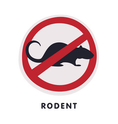 Rat rodent animal prohibition sign pest control vector