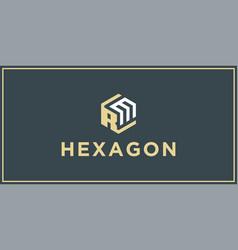 Rm hexagon logo design inspiration vector