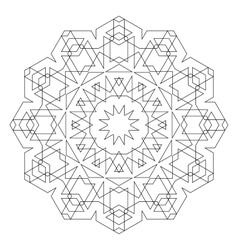 Round decorative geometric pattern vector