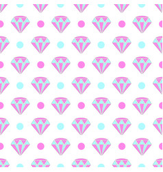 Seamless pattern of diamonds and dots vector