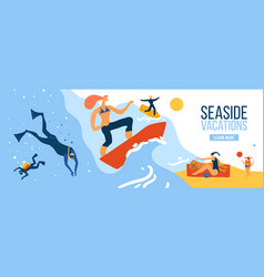 seaside vacations vector image