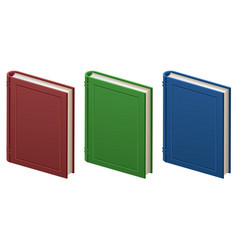 Set of closed books in hard cover vector