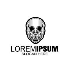 Skull logo icon or skull skeleton vector