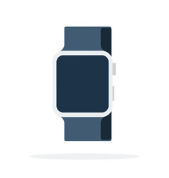 smart watch with a black strap vector image
