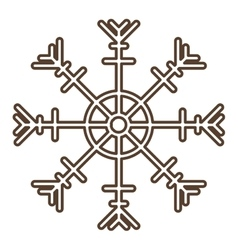 Snowflake of merry Christmas design vector
