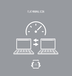 speed of data transfer - flat minimal icon vector image