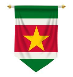 Suriname pennant vector