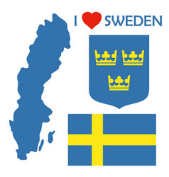sweden1 vector image