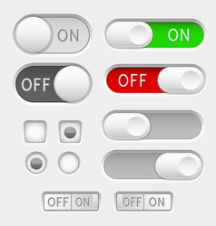 Switch slider buttons radio buttons vector