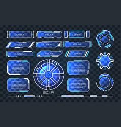 technology sci fi ui vector image