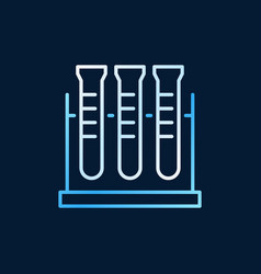 Test tube rack outline colorful icon or vector